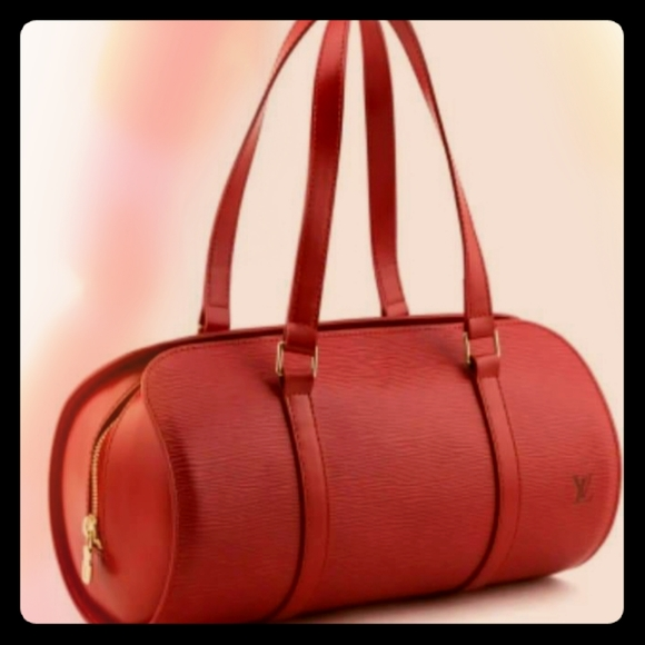 Original Louis Vuitton Epi Papillon Castilian red